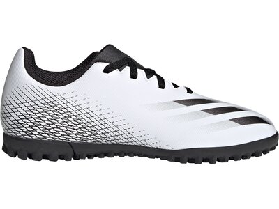 adidas Kinder X Ghosted.4 TF Fußballschuh Silber