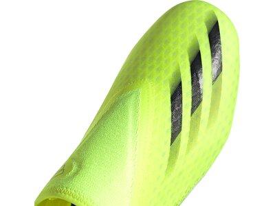 adidas Herren X Ghosted.3 Laceless FG Fußballschuh Grün