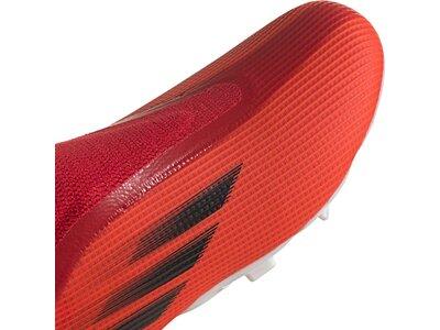 ADIDAS Kinder Fussball-Rasenschuhe Kinder Fußballschuhe X Speedflow.3 Laceless FG J Rot