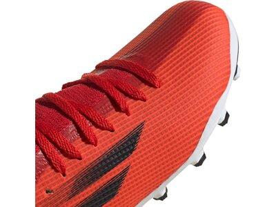 ADIDAS Kinder Fussball-Kunstrasenschuhe Kinder Fußballschuhe X Speedflow.3 MG J Rot