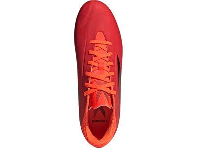ADIDAS Herren Fussball-Rasenschuhe Herren Fußballschuhe X Speedflow.4 FxG Rot