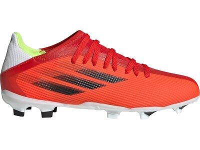 adidas Kinder X Speedflow.3 FG Fußballschuh Rot
