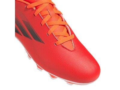ADIDAS Kinder Fussball-Rasenschuhe Kinder Fußballschuhe X Speedflow.4 FxG J Rot