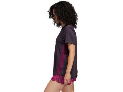 adidas Damen 3-Streifen T-Shirt Braun