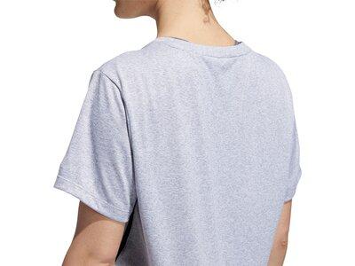 adidas Damen 3-Streifen T-Shirt Silber