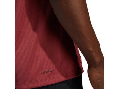ADIDAS Fußball - Textilien - T-Shirts Aeroready 3 Stripes T-Shirt Rot