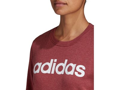 adidas Damen Essentials Linear Sweatshirt Rot
