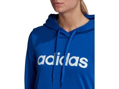 adidas Damen Essentials Linear Hoodie Blau