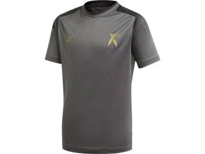 adidas Kinder Football Inspired X AEROREADY Shirt Grau