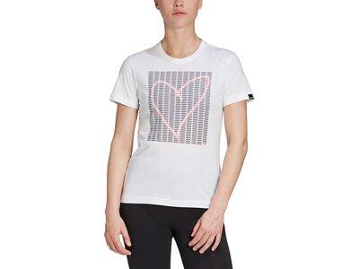 adidas Damen Adi Heart Graphic T-Shirt Pink