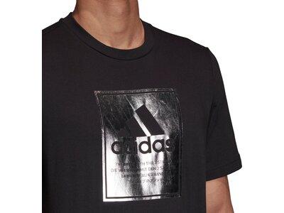 adidas Herren Logo Box Foil T-Shirt Schwarz