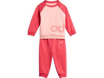adidas Kinder Linear Fleece Jogginganzug Rot
