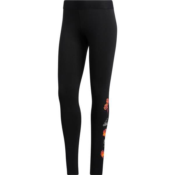 Hosen - adidas Damen Floral Tight › Schwarz  - Onlineshop Intersport