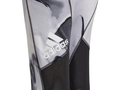 adidas Kinder Alphaskin AEROREADY Printed Tight Silber