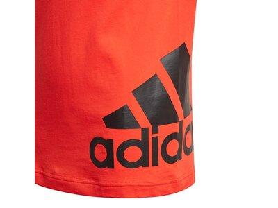 adidas Kinder Must Haves Big Logo T-Shirt Rot