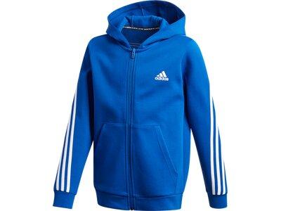 ADIDAS Kinder Kapuzensweat B 3S FZ Blau