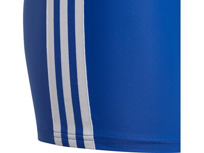 adidas Kinder 3-Streifen Boxer-Badehose Blau