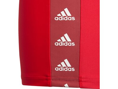 adidas Kinder Tape Boxer-Badehose Rot
