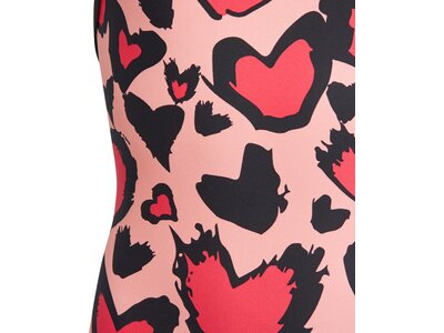 adidas Kinder Girls Heart Graphic Badeanzug Grau