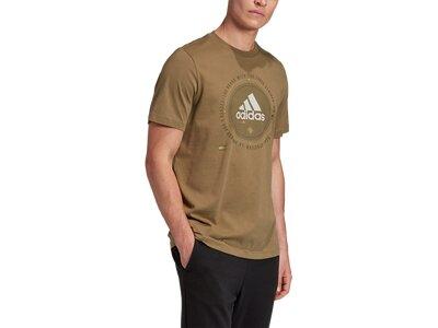adidas Herren Athletics Graphic T-Shirt Braun