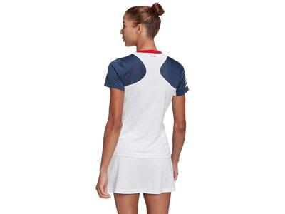 "ADIDAS Damen Tennis T-Shirt ""Club Tee"" Weiß"