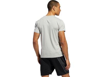 ADIDAS Herren Shirt AERO 3S CW TEE Silber