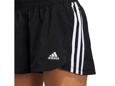 adidas Damen Pacer 3-Streifen Woven Shorts Schwarz