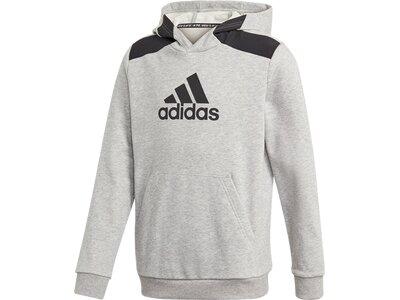"ADIDAS Jungen Sweatshirt mit Kapuze ""Logo Hoodie"" Silber"