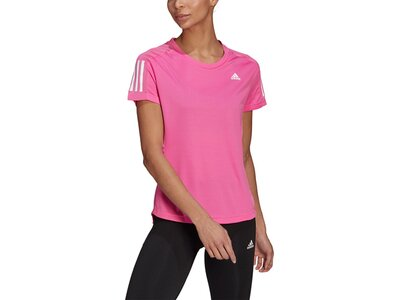 adidas Damen T-Shirt OWN THE RUN Pink