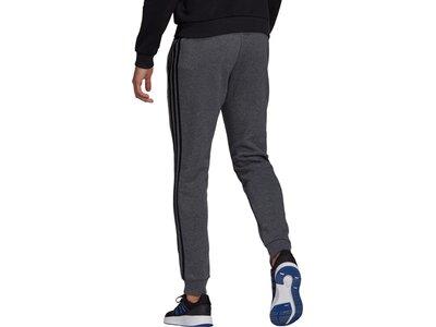 adidas Herren Essentials Fleece Tapered Cuff 3-Streifen Hose Grau