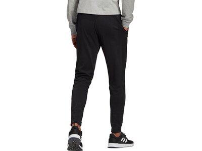 adidas Herren Essentials Single Jersey Tapered Elastic Cuff Logo Hose Schwarz