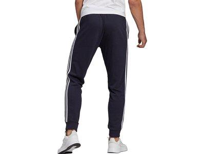 adidas Herren Essentials French Terry Tapered Cuff 3-Streifen Hose Schwarz