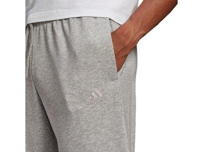 adidas Herren Essentials French Terry Tapered Cuff Logo Hose Silber