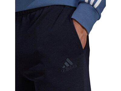 adidas Herren Essentials French Terry Tapered Cuff Logo Hose Schwarz