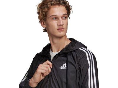 adidas Herren Primegreen Essentials 3-Streifen Windbreaker Schwarz