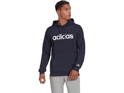 adidas Herren Essentials Linear Logo Hoodie Schwarz