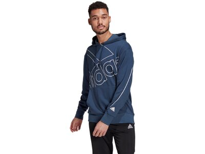adidas Giant Logo Hoodie – Genderneutral Blau
