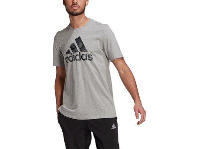 adidas Herren Essentials Camouflage Print T-Shirt Grau
