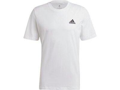 adidas Herren Essentials Embroidered Small Logo T-Shirt Grau