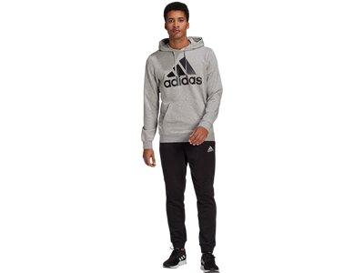 adidas Herren AEROREADY Essentials Kangaroo Pocket Big Logo Trainingsanzug Grau