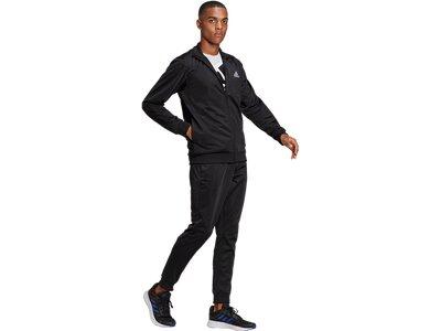adidas Herren Primegreen Essentials Linear Logo Trainingsanzug Schwarz