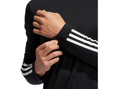 adidas Herren Techfit 3-Streifen Fitted Longsleeve Schwarz