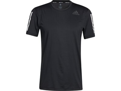 adidas Herren Techfit 3-Streifen Fitted T-Shirt Schwarz