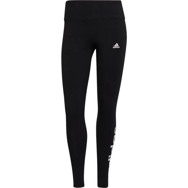 Hosen - adidas Damen Essentials High Waisted Logo Leggings › Schwarz  - Onlineshop Intersport
