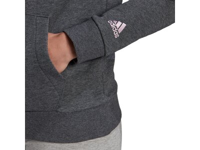 ADIDAS Damen Kapuzensweat LIN FT HD Grau