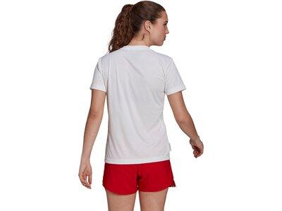 adidas Damen Primeblue Slogan Graphic T-Shirt Weiß