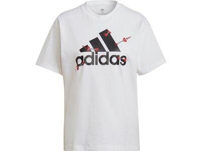 adidas Damen Valentine Graphic T-Shirt – Genderneutral Grau