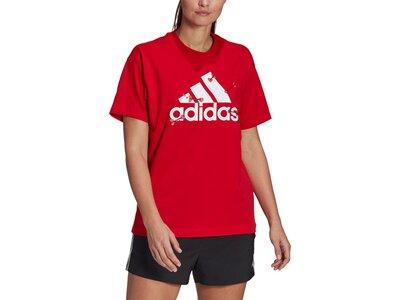 adidas Damen Valentine Graphic T-Shirt – Genderneutral Rot