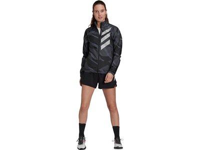 adidas Damen TERREX Parley Agravic Trail Running WIND.RDY Windbreaker Schwarz