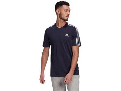 adidas Herren Essentials 3-Streifen T-Shirt Schwarz